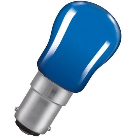 Crompton Lamps 15W Pygmy SBC-B15d Dimmable Blue Sign Traditional Coloured Outdoor External Festoon Light Bulb