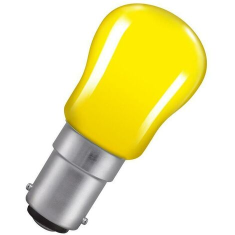 Crompton Lamps 15W Pygmy SBC-B15d Dimmable Yellow Sign Traditional Coloured Outdoor External Festoon Light Bulb