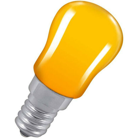 Crompton Lamps 15W Pygmy SES-E14 Dimmable Amber Sign Traditional Coloured Outdoor External Festoon Light Bulb