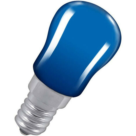 Crompton Lamps 15W Pygmy SES-E14 Dimmable Blue Sign Traditional Coloured Outdoor External Festoon Light Bulb