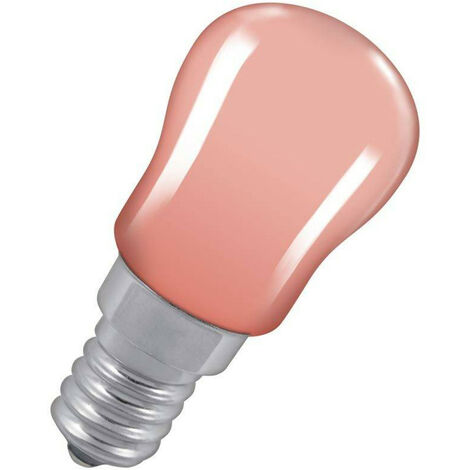 Crompton Lamps 15W Pygmy SES-E14 Dimmable Pink Sign Traditional Coloured Outdoor External Festoon Light Bulb