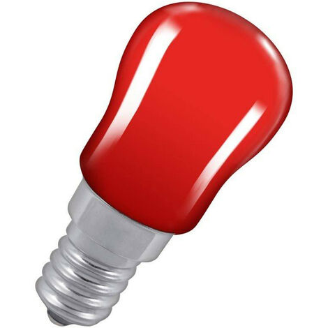 Crompton Lamps 15W Pygmy SES-E14 Dimmable Red Sign Traditional Coloured Outdoor External Festoon Light Bulb