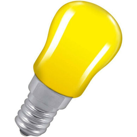 Crompton Lamps 15W Pygmy SES-E14 Dimmable Yellow Sign Traditional Coloured Outdoor External Festoon Light Bulb