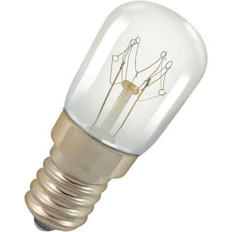 Crompton Lamps 25W 22x50mm Oven SES-E14 2800K Warm White Clear 125lm SES Small Screw E14 Incandescent Traditional Replacement Light Bulb