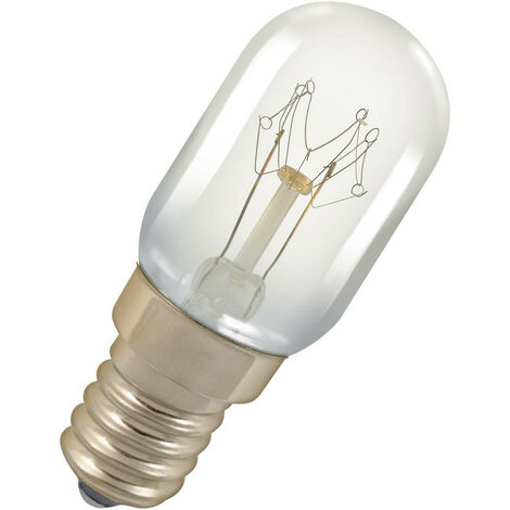 Crompton Lamps 25W 22x56mm Microwave SES-E14 2800K Warm White Clear 140lm Traditional Replacement Light Bulb