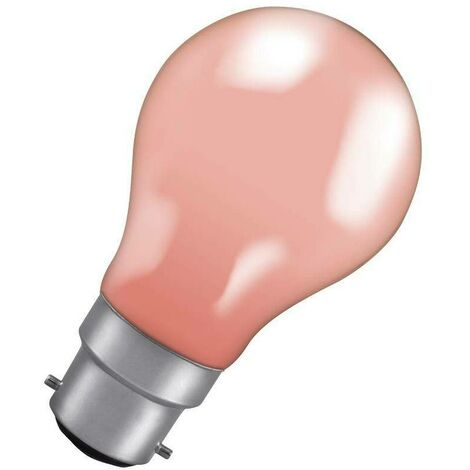 Crompton Lamps 25W GLS BC-B22d Dimmable Colourglazed IP65 Pink A60 Traditional Outdoor External Festoon Light Bulb