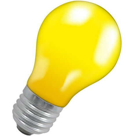 Crompton Lamps 25W GLS E27 Dimmable Colourglazed IP65 Yellow