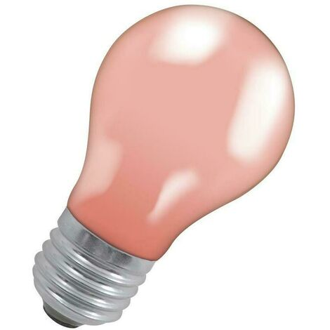 Crompton Lamps 25W GLS ES-E27 Dimmable Colourglazed IP65 Pink A60 Traditional Coloured Outdoor External Festoon Light Bulb