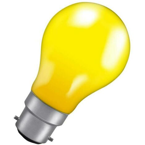 Crompton Lamps 40W GLS B22 Dimmable Colourglazed IP65 Yellow