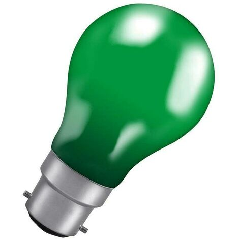 Crompton Lamps 40W GLS BC-B22d Dimmable Colourglazed IP65 Green A60 Traditional Coloured Outdoor External Festoon Light Bulb