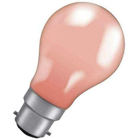 Crompton Lamps 60W GLS B22 Dimmable Colourglazed IP65 Pink