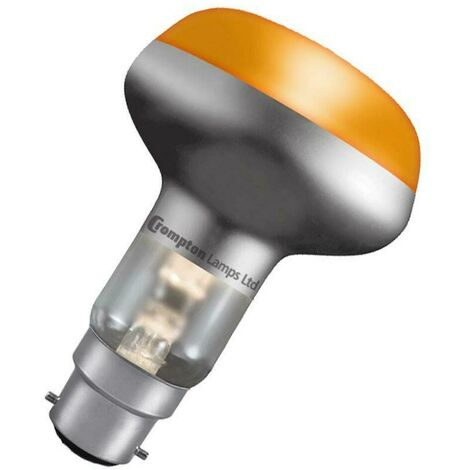 Crompton Lamps 60W R80 Reflector B22 Dimmable Amber 60°