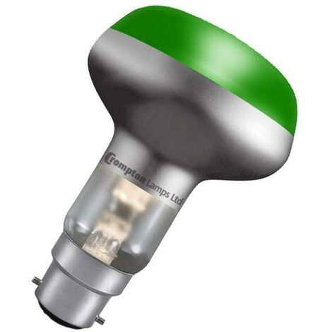 Crompton Lamps 60W R80 Reflector B22 Dimmable Green 35°