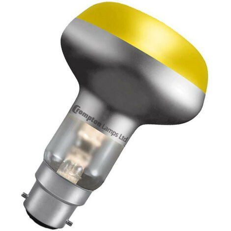 Crompton Lamps 60W R80 Reflector B22 Dimmable Yellow 35°