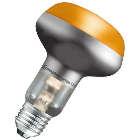 Crompton Lamps 60W R80 Reflector E27 Dimmable Amber 60°