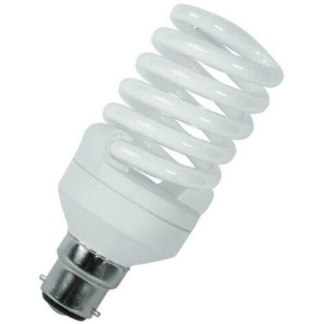 Crompton Lamps CFL T2 Mini Helix Spiral 23W BC-B22d 2700K Warm White Frosted 1600lm Crompton Lamps CFL T2 Mini Helix Spiral BC Bayonet B22 Energy Saving CFL Compact Fluorescent Opal Bright Light Bulb