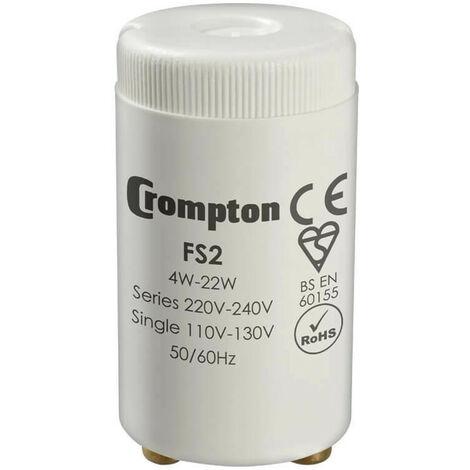 "main image of ""Crompton Lamps Fluorescent Starter 22W 130V 240V Starters Glow 2-Pin"""