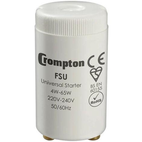 Crompton Lamps Fluorescent Starter 65W FSU 4W - 65W Crompton Lamps Fluorescent Starter Starters 2-Pin