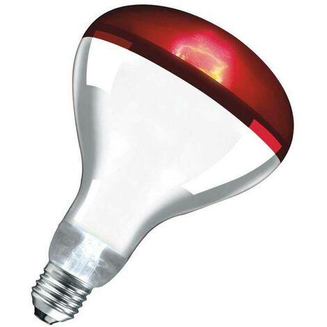 Crompton Lamps Infrared R125 Reflector 250W ES-E27 Dimmable (250W eqv) InfraRed 80° Ruby 155lm Crompton Lamps Infrared R125 Reflector ES Screw E27 Heat IR Light Bulb