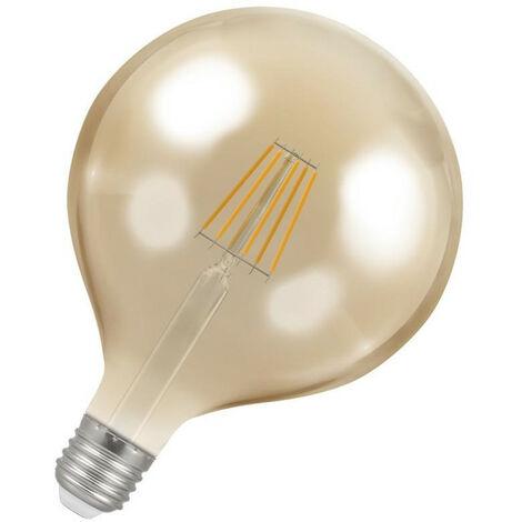 Crompton Lamps LED Globe 7.5W ES-E27 Dimmable Filament (60W Eqv) 2200K Extra Warm White Antique Bronze 638lm G125 Vintage Edison Large Light Bulb