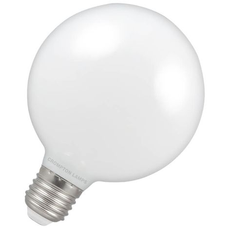Crompton Lamps LED Globe 7W E27 Dimmable Warm White Opal