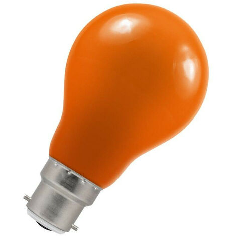 Crompton Lamps LED GLS 1.5W BC-B22d IP65 Amber A60 Outdoor Festoon Coloured External Light Bulb