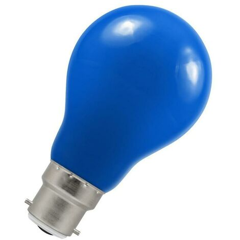 Crompton Lamps LED GLS 1.5W BC-B22d IP65 Blue A60 Outdoor Festoon Coloured External Light Bulb