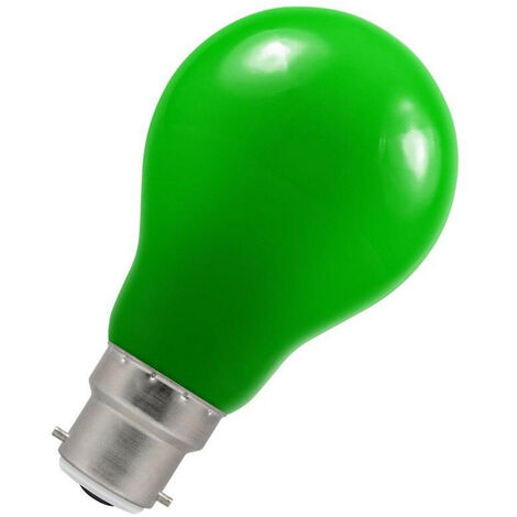 Crompton Lamps LED GLS 1.5W BC-B22d IP65 Green A60 Outdoor Festoon Coloured External Light Bulb