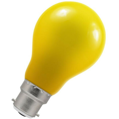 Crompton Lamps LED GLS 1.5W BC-B22d IP65 Yellow A60 Outdoor Festoon Coloured External Light Bulb