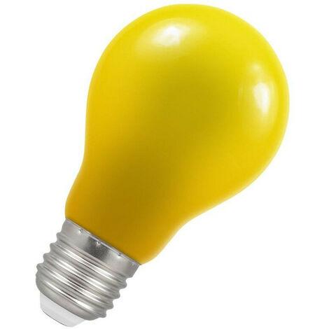 "main image of ""Crompton Lamps LED GLS 1.5W ES-E27 IP65 (15W Equivalent) Yellow ES Screw E27 A60 Outdoor Festoon Coloured External Light Bulb"""