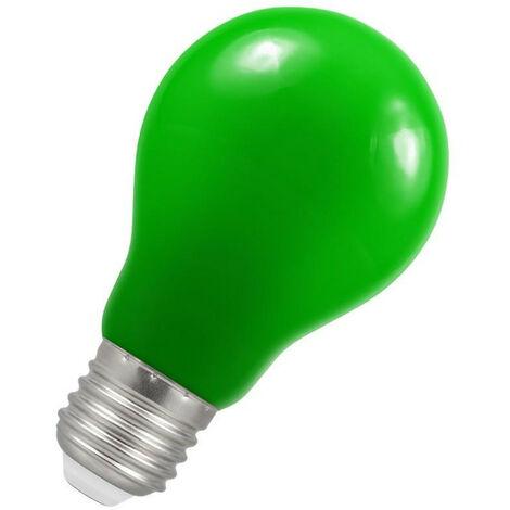 Crompton Lamps LED GLS 1.5W ES-E27 IP65 Green A60 Outdoor Festoon Coloured External Light Bulb