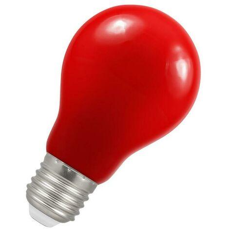 Crompton Lamps LED GLS 1.5W ES-E27 IP65 Red A60 Outdoor Festoon Coloured External Light Bulb