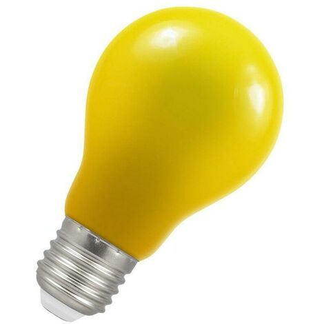Crompton Lamps LED GLS 1.5W ES-E27 IP65 Yellow A60 Outdoor Festoon Coloured External Light Bulb