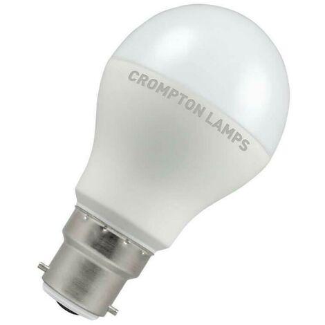 Crompton Lamps LED GLS 9.5W BC-B22d Dusk Til Dawn (60W Eqv) (60W eqv) 2700K Warm White Opal 806lm Crompton Lamps LED GLS BC Bayonet B22 A60 Frosted Thermal Plastic Light Bulb