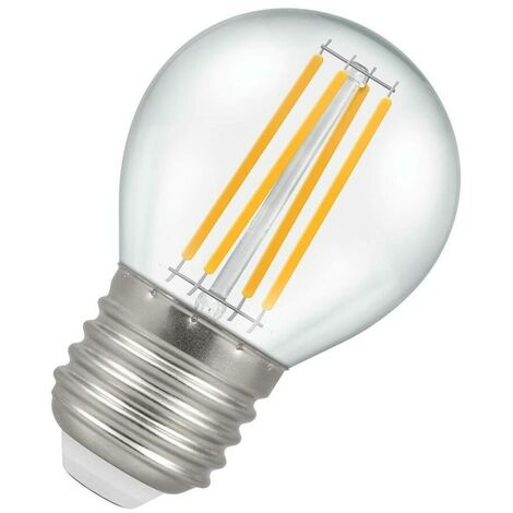 Crompton Lamps LED Golfball 6.5W ES-E27 Filament (60W Eqv) (60W eqv) 2700K Warm White Clear 806lm Crompton Lamps LED Golfball ES Screw E27 Round Light Bulb