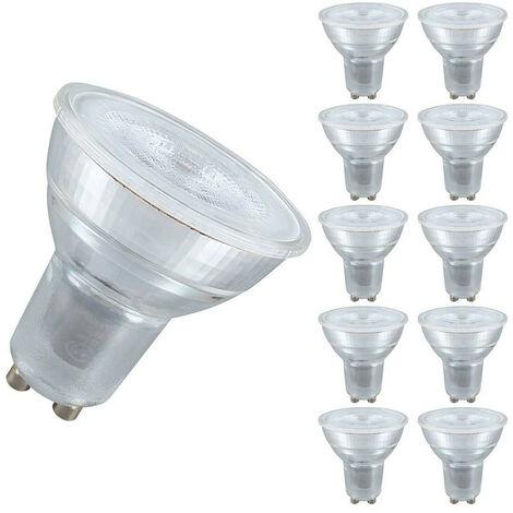 Crompton Lamps LED GU10 Spotlight 4.5W GU10 (10 Pack) (50W Eqv) (50W eqv) 2700K Warm White 35° 380lm Crompton Lamps LED GU10 Spotlight Replacement Light Bulbs