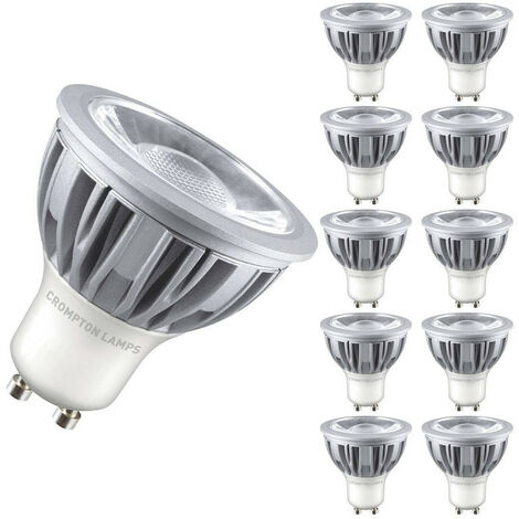 Crompton Lamps LED GU10 Spotlight 5W Dimmable (10 Pack) Warm White 45°