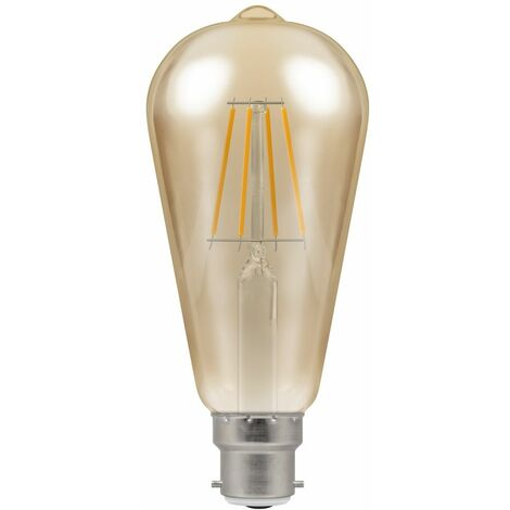 Crompton LED ST64 BC B22 Filament Antique 5W Dimmable - Extra Warm White