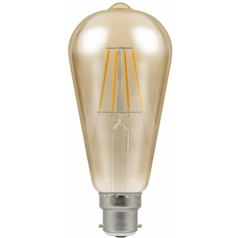 Crompton LED ST64 BC B22 Filament Antique 7.5W Dimmable - Extra Warm White