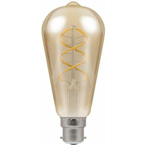 Crompton LED ST64 BC B22 Spiral Filament Antique Bronze 6W - Extra Warm White