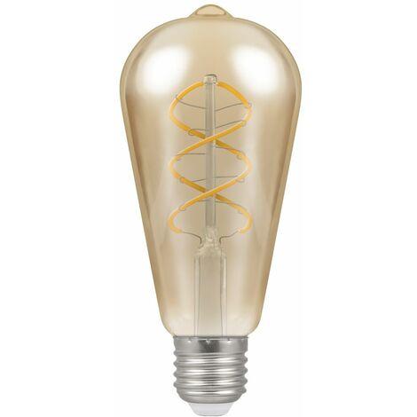 Crompton LED ST64 ES E27 Spiral Filament Antique Bronze 6W - Extra Warm White