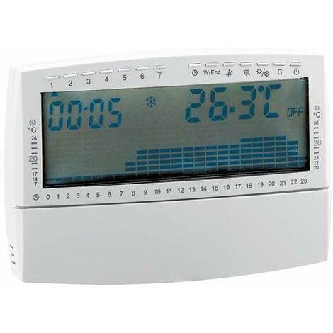 Cronotermostato ambiente con entrada para programador 739 | wöchentlich