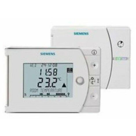 Cronotermostato digital semanal con radiofrecuencia REV24RF de Siemens