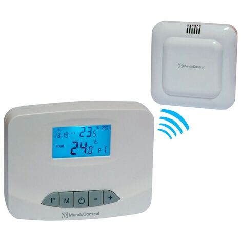 Cronotermostato digital vía radio CD7RF - Blanco