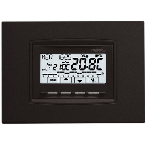Cronotermostato incorporado con baterías cm 4,7x5,3x6,5 Perry 1CRCDS28