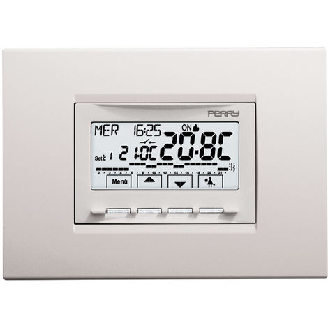 Cronotermostato integrado 230V Perry cm 4,7x5,3x6,5 Perry 1CRCDS29