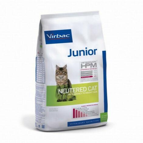 Croquettes Virbac HPM Junior Neutered pour chat Sac 400 g