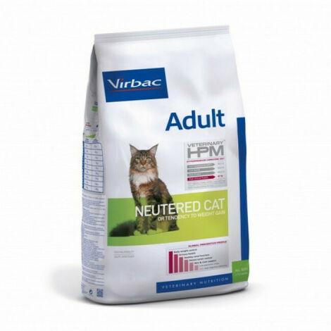 Croquettes Virbac HPM Neutered adulte pour chat Sac 7 kg
