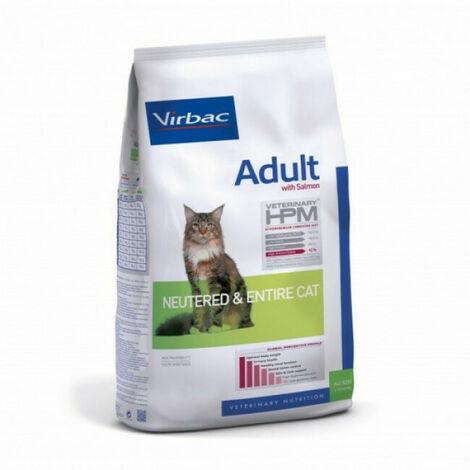 Croquettes Virbac HPM Neutered & Entire adulte au saumon pour chat Sac 3 kg