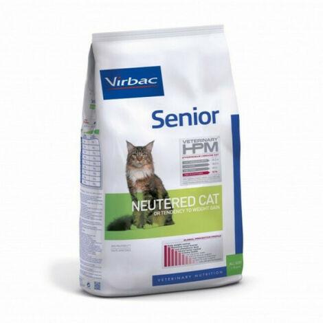 Croquettes Virbac HPM Senior Neutered pour chat Sac 1,5 kg